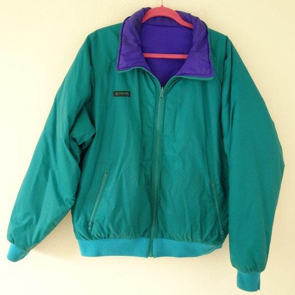 Men's Columbia Windbreaker Reversible Jacket XL